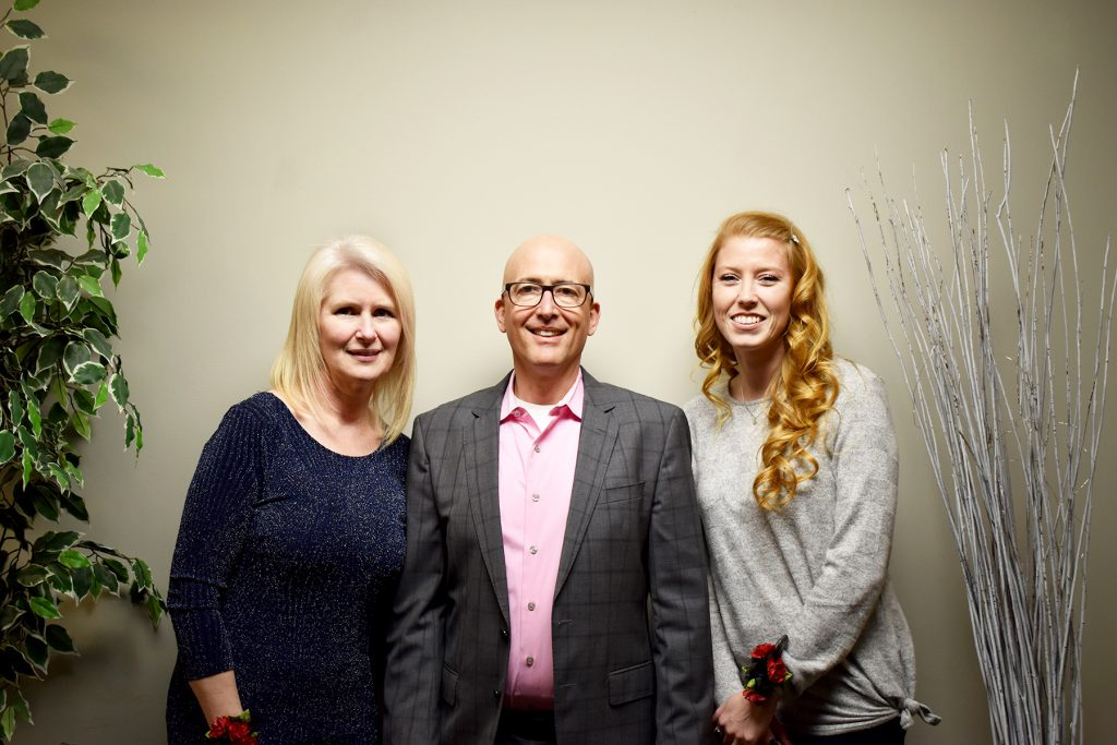 (Left to right) ERMC Administrative Assistant Kathryn Huston-Smith, President & CEO Tim Johnson and Registered Nurse Lisa Shepler.