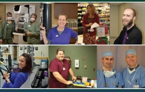 Collage of staff members
